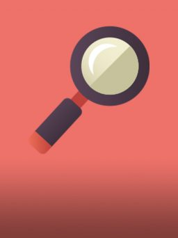 Magnifying glass icon for think3 Keyword Research Blog Card