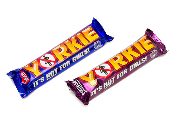 Yorkie chocolate bars with 'not for girls' - controversial marketing campaign