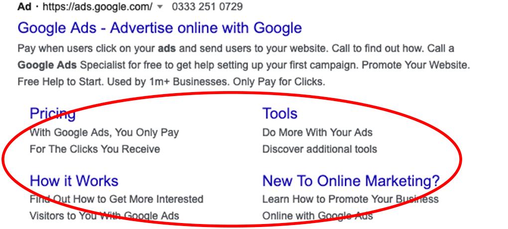 Google Text Ad Extensions
